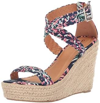 Qupid Women's Espadrille Wedge Sandal