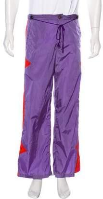 Versace 2004 Woven Colorblock Pants