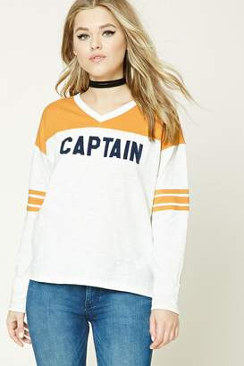 Forever 21 V-Neck Captain Tee