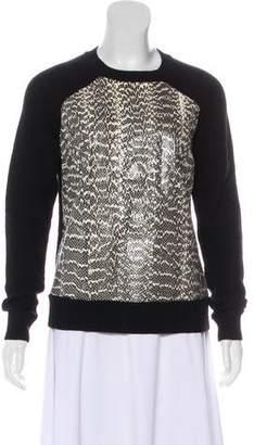 Jason Wu Snakeskin Wool Sweater