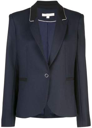 Jonathan Simkhai black trim single breasted blazer