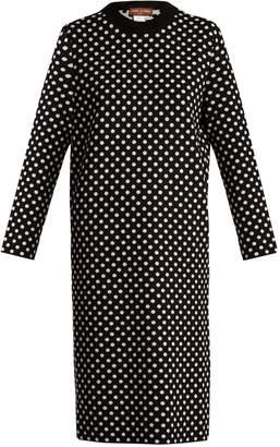 DAY Birger et Mikkelsen DURO OLOWU Polka-dot jacquard wool sweater dress