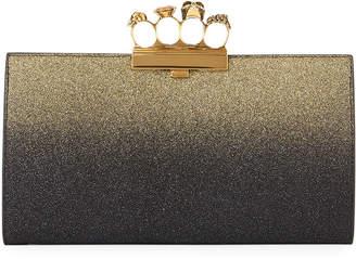 Alexander McQueen Glitter Ombre Flat Knuckle Clutch Bag