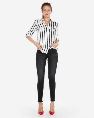 Express Striped Satin Twill No Pocket City Shirt