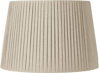 OKA 50cm Pleated Linen Lampshade - Natural