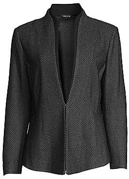 Misook Women's Honeycomb Pattern Blazer