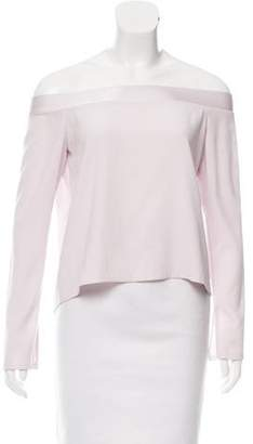 Intermix Long Sleeve Off-The-Shoulder Top