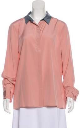 DKNY Silk Long Sleeve Top w/ Tags