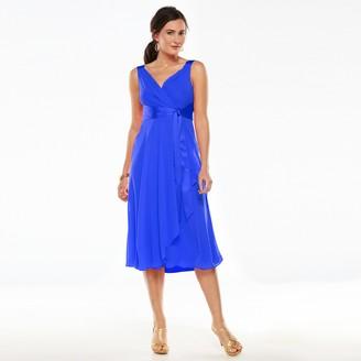 Chaps Women's Surplice Empire Evening Dress