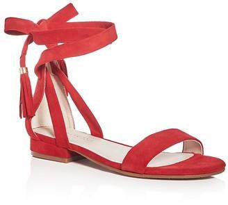 Kenneth Cole Valen Suede Ankle Wrap Sandals $110 thestylecure.com