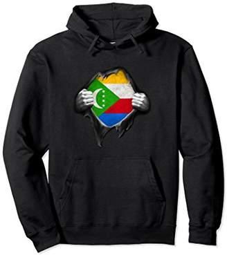 Comoros Flag Pullover Hoodie Comorian Flag Hands