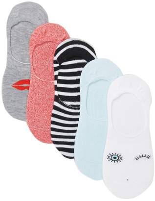Free Press Icon No Show Liner Socks - Pack of 5