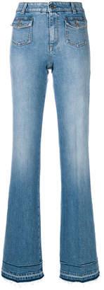 Stella McCartney faded wide-leg jeans