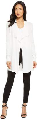 Calvin Klein Drape Front Mesh Cardigan Women's Sweater