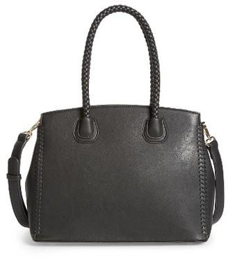 Sole Society Lexington Whipstitch Faux Leather Satchel - Black $59.95 thestylecure.com