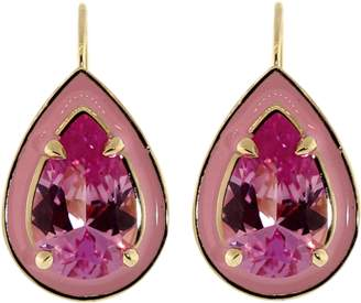 Alison Lou Pink Sapphire Cocktail Earrings