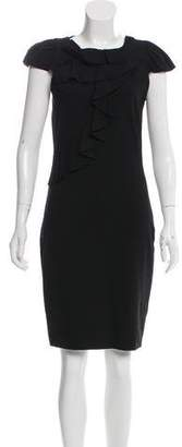 RED Valentino Ruffle-Trim Knee-Length Dress