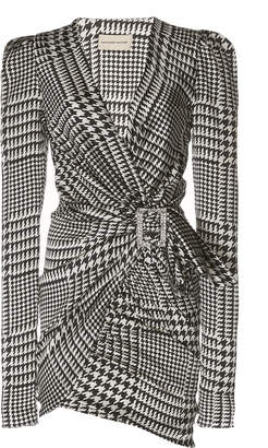 Alexandre Vauthier Herringbone Silk Dress