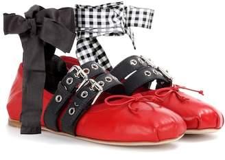 Miu Miu Leather ballerinas