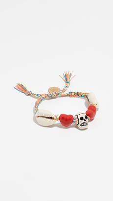 Venessa Arizaga Skull Heart Bracelet