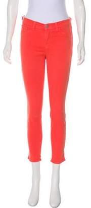 J Brand Mid-Rise Skinny Jeans Orange Mid-Rise Skinny Jeans