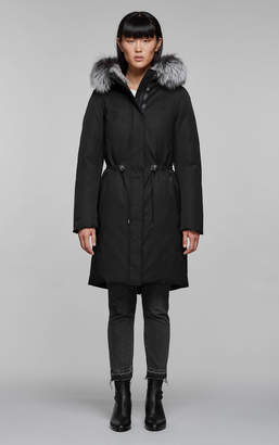 Mackage ENIA-X mid length winter down coat with fur
