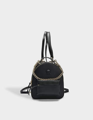 Versace Palazzo Backpack in Black Nappa Leather