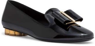 Salvatore Ferragamo Sarno 10 Black Patent Leather Flats