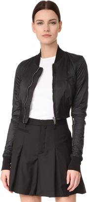 Rick Owens DRKSHDW Glitter Flight Jacket $1,435 thestylecure.com