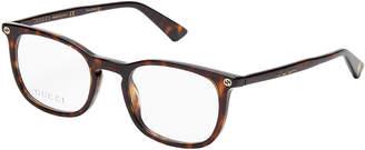 Gucci GG0122O Tortoiseshell-Look Square Optical Frames