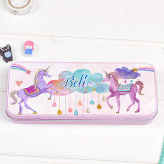 Equipment Lily Summery Personalised Pencil Tin Case 'Unicorn'