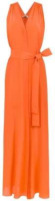 Egrey long silk dress