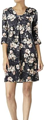 Aryeh Velvet Floral Dress