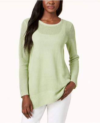Eileen Fisher Organic Linen Tunic Sweater
