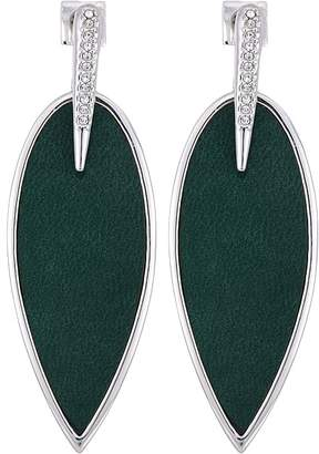 Vince Camuto Inlaid Leather Front Statement Earrings Earring