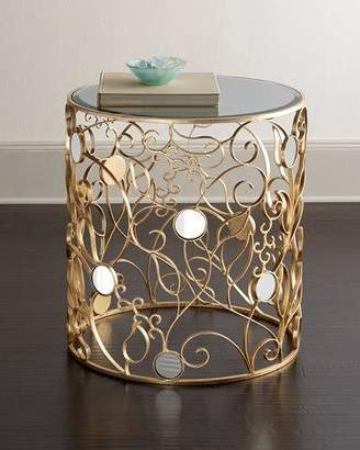 Haute House TESSY MIRROR TOP SIDE TABLE