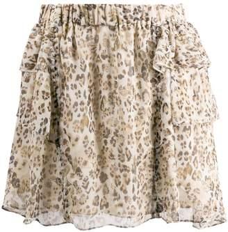 IRO leopard print mini skirt