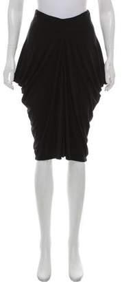 Susana Monaco Gathered Knee-Length Skirt
