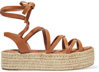 Zimmermann Leather Espadrille Platform Sandals - Tan