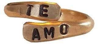 Amo Sweet1985 Te Cuff Ring Gold Filled
