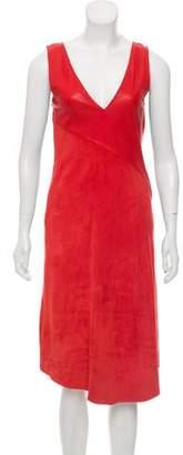 Rag & Bone Leather Midi Dress