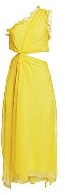 Cinq à Sept Women's Corinne One-Shoulder Silk Midi Dress - Size 0