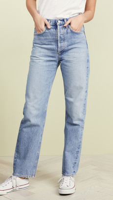 A Gold E Agolde Mid Rise 90's Loose Fit Jeans