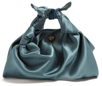 The Row The Ascot Silk Clutch - Womens - Light Blue