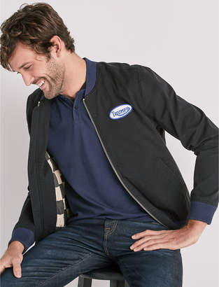 Lucky Brand TRIUMPH BOMBER JACKET WITH PATCHES