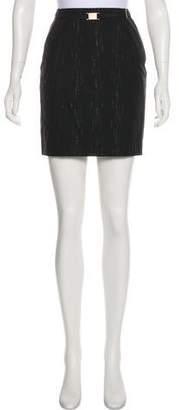 Gianni Versace Wool Metallic Skirt