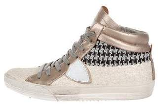 Philippe Model Embellished High-Top Sneakers