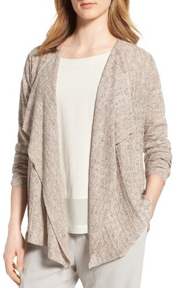 Women's Eileen Fisher Angle Front Linen Cardigan $228 thestylecure.com