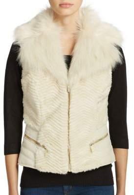 GUESS Gabby Faux Fur Vest