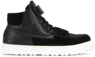 Kris Van Assche strapped hi-top sneakers